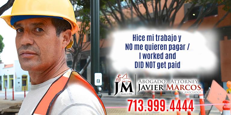 Construccion Liens | Abogado Javier Marcos | 713.999.4444