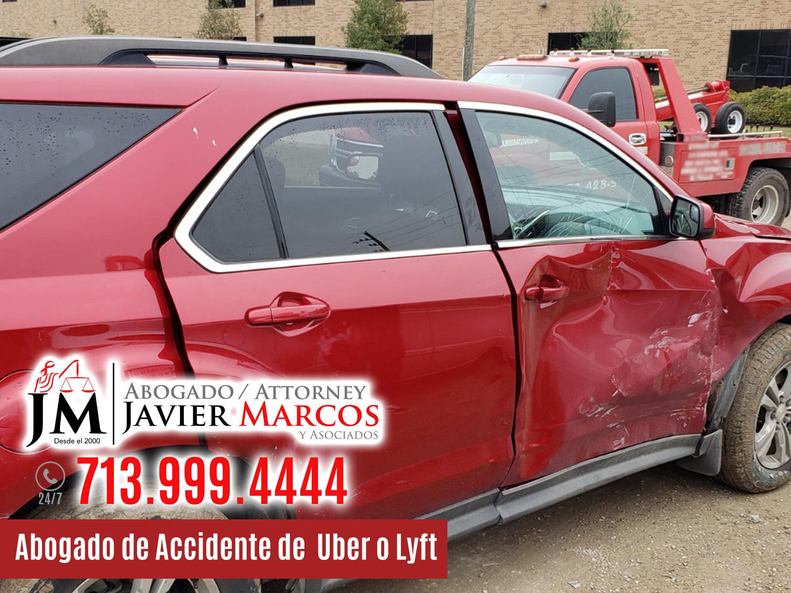 Abogado de Accidente de Uber o Lyft en Houston | Abogado Javier Marcos | 713.999.4444